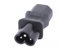 Lindy IEC C6 Cloverleaf Socket To IEC C13 3 Pin Plug Adapter