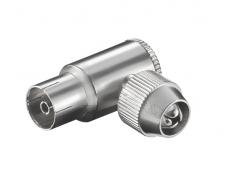 IEC (F) kampinis lizdas ant laido, metalinis