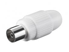 IEC (F) lizdas ant laido, plastikinis