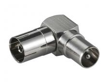 IEC sujungimo adapteris kampinis M-F, metalinis