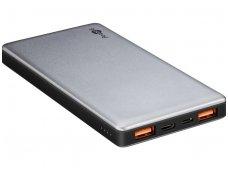 Įkraunamas ličio akumuliatorius, 10000mAh, USB-C QC3.0