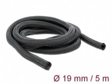 Kabelių apsauga 19mm 5m, juoda