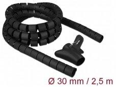 Kabelių apsauga 30mm 2.5m, juoda
