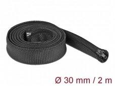 Kabelių apsauga 30mm 2m su užtrauktuku, juodos spalv.