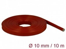 Karščiui atsparus silikoninis vamzdelis 10mm 10m, raudonas