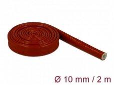Karščiui atsparus silikoninis vamzdelis 10mm 2m, raudonas