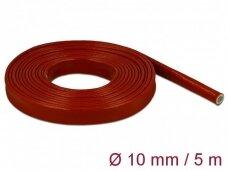 Karščiui atsparus silikoninis vamzdelis 10mm 5m, raudonas