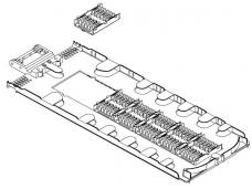 Kasetė D tipo movai FOSC-D-TRAY-72-1
