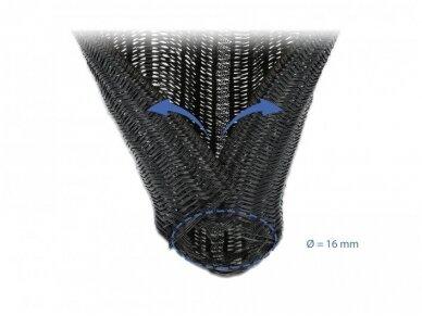 Kabelių apsauga 16mm 5m, juoda 3