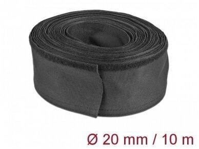 Kabelių apsauga 20mm 10m, juoda
