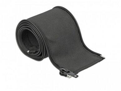 Kabelių apsauga 25mm 1m su užtrauktuku, juoda 3