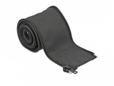 Kabelių apsauga 25mm 2m su užtrauktuku, juoda 3