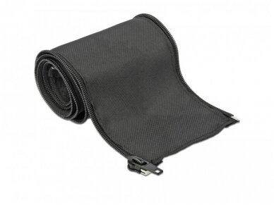 Kabelių apsauga 35mm 1m su užtrauktuku, juoda 3
