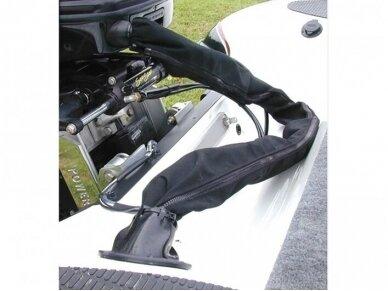 Kabelių apsauga 35mm 1m su užtrauktuku, juoda 2