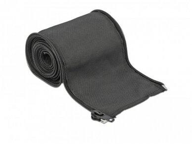 Kabelių apsauga 35mm 2m su užtrauktuku, juoda 3
