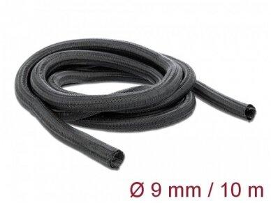 Kabelių apsauga 9mm 10m, juoda