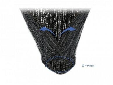 Kabelių apsauga 9mm 5m, juoda 2