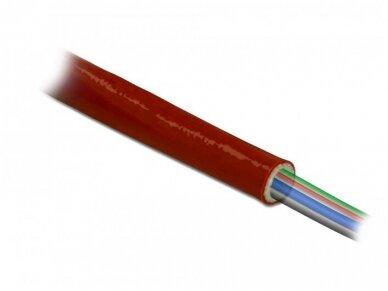 Karščiui atsparus silikoninis vamzdelis 10mm 10m, raudonas 3