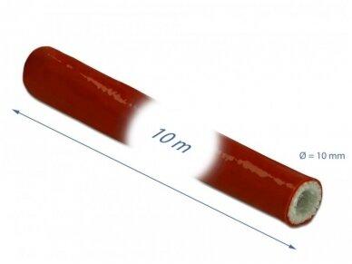 Karščiui atsparus silikoninis vamzdelis 10mm 10m, raudonas 2