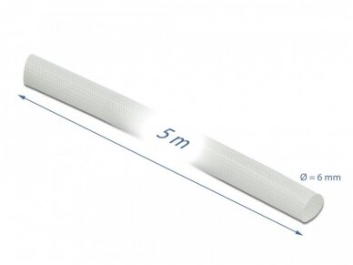Karščiui atsparus stiklo pluošto vamzdelis 6mm 5m 3