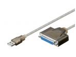 Keitiklis iš USB (A) į LPT (DB25F) 1.5m