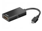 Keitiklis Micro USB (MHL) į HDMI, 5k.