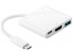 Keitiklis USB-C į 2xUSB 2.0, USB 3.1, USB 3.0, HDMI