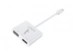 Keitiklis USB-C 3.1 į HDMI 4K, VGA 1920x1200p