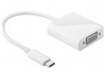 Keitiklis USB-C į VGA 1920x1080 60Hz baltas