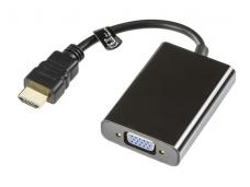 Keitiklis HDMI A M į VGA F, audio 3.5mm (F)