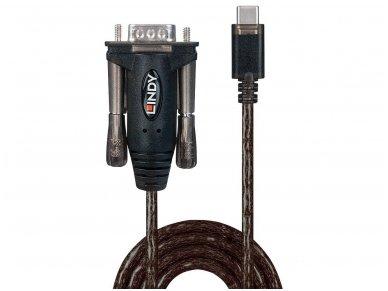 Keitiklis iš USB-C į Serial (DB9M) 1.5m