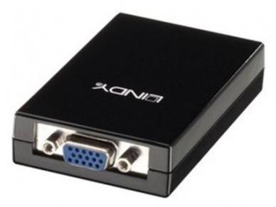 Keitiklis USB 2.0 į VGA, 1080p, Lindy 2