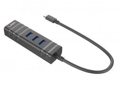 Keitiklis USB-C į 3xUSB 3.0 ir Gigabit Ethernet 3