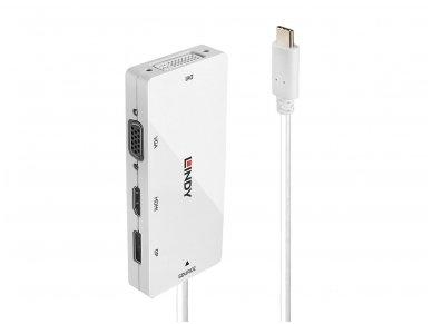 Keitiklis USB-C į HDMI, DP, DVI, VGA 4K 60Hz