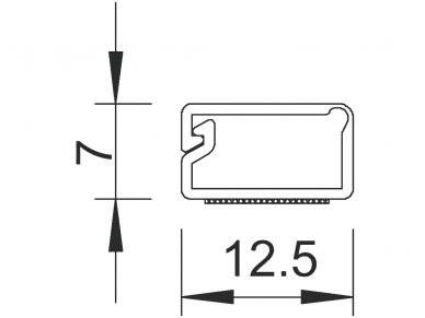 Klijuojamas lovelis 12.5x7mm 2