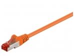 Komutacinis kabelis 0,25m S/FTP Cat6 Pimf, oranžinis LSZH CU