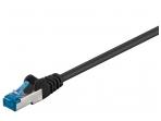 Komutacinis kabelis 0,5m S/FTP Cat6a Pimf, juodas LSZH CU