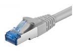 Komutacinis kabelis 1,5m S/FTP Cat6a Pimf, pilkas LSZH CU