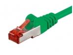 Komutacinis kabelis 1m S/FTP Cat6 Pimf, žalias LSZH CU