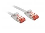 Komutacinis kabelis 1m U/FTP Cat6, plokščias, pilkas