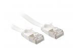 Komutacinis kabelis 1m U/FTP Cat6A, plokščias, baltas