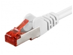 Komutacinis kabelis 20m S/FTP Cat6 Pimf, baltas LSZH CU
