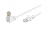 Komutacinis kabelis 2m UTP Cat5E, baltas kampinis-tiesus