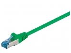 Komutacinis kabelis 5m S/FTP Cat6a Pimf, žalias LSZH CU