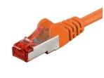 Komutacinis kabelis 7,5m S/FTP Cat6 Pimf, oranžinis LSZH CU