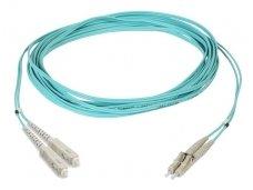 Komutacinis dviejų skaidulų kabelis SC/LC 2m 50 OM3