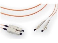 Komutacinis dviejų skaidulų kabelis SC/LC 5m 50