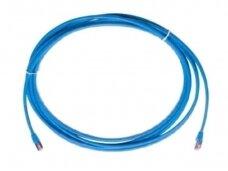 Komutacinis kab. 2.0m S/FTP 6A kat.,(Dia. 4,2mm) mėlynas