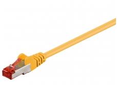 Komutacinis kabelis 0,5m S/FTP Cat6 Pimf, geltonas LSZH CU