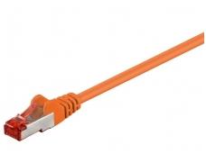 Komutacinis kabelis 15m S/FTP Cat6 Pimf, oranžinis LSZH CU